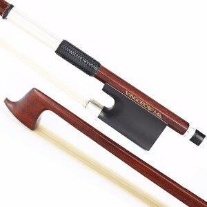 Image 5 - 4/4 크기 910V D.peccatee 마스터 Pernambuco 바이올린 활 좋은 품질 흑단 및 Horsehair 100% 실버 장착 바이올린 액세서리