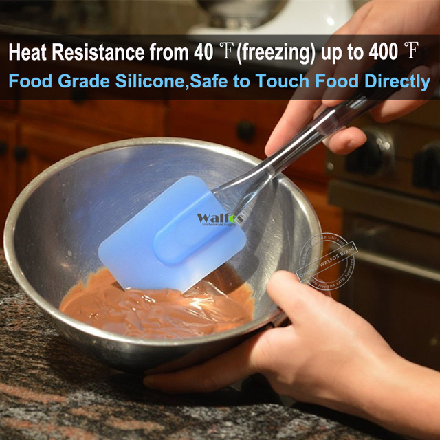 3 pieces Kitchen Heat-resistant Flexible Silicone Spatulas