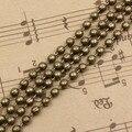 20 м/лот 2.4 мм железа бусины цепи ювелирных изделий бронзовый цвет бусины цепи для ожерелье DIY ювелирных изделий делает аксессуар K03426