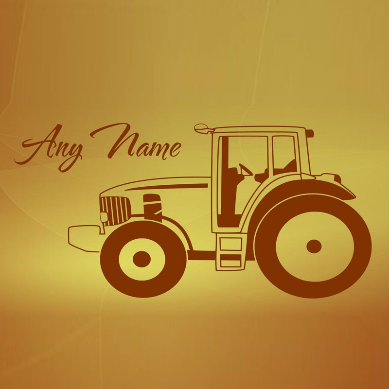 Hot Sell Tractor Wall Stickers Cartoon Kids Bedroom Wall Decor ...