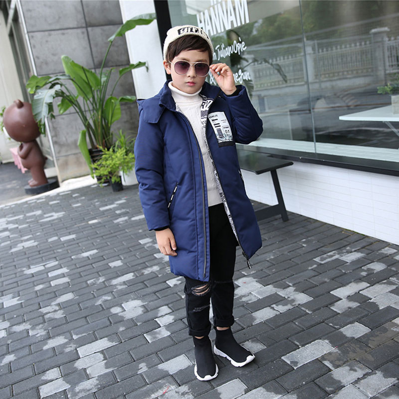 Mioigee Thicken Hooded down Coats Big Boys Winter Jackets  Boys Warm Long Parkas Teenage Boys Outerwear 5-12T Children Tops coat casual 2016 winter jacket for boys warm jackets coats outerwears thick hooded down cotton jackets for children boy winter parkas