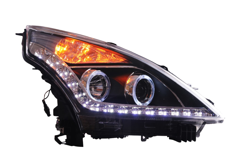 Free shipping For Vland car headlamp for TIANA LED headlight 2008 2009 2010 2011 2012 DRL H7 Xenon lamp car rear trunk security shield shade cargo cover for nissan qashqai 2008 2009 2010 2011 2012 2013 black beige
