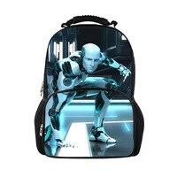 Unique Robot Print School Backpack For Teenagers Children Boys Canvas Backpack Men S Travel Backpack Outdoor