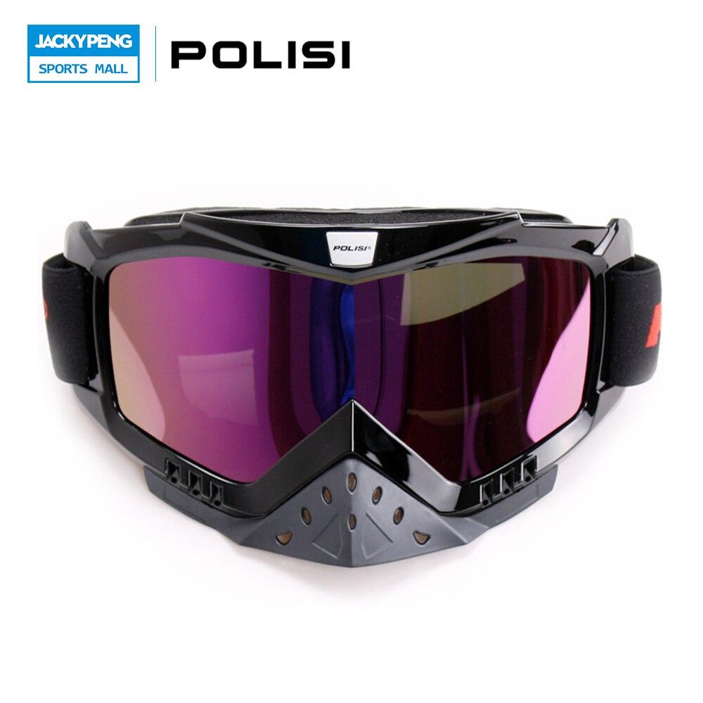 Nueva polisi ski snowboard gafas de motocicleta motocross dirt bike off-road de