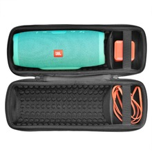 Купить с кэшбэком 2018 Newest PU EVA Carry Protective Speaker Box Pouch Cover Bag Case For JBL Charge 3 Charge3 Speaker-Extra Space for Plug&Cable
