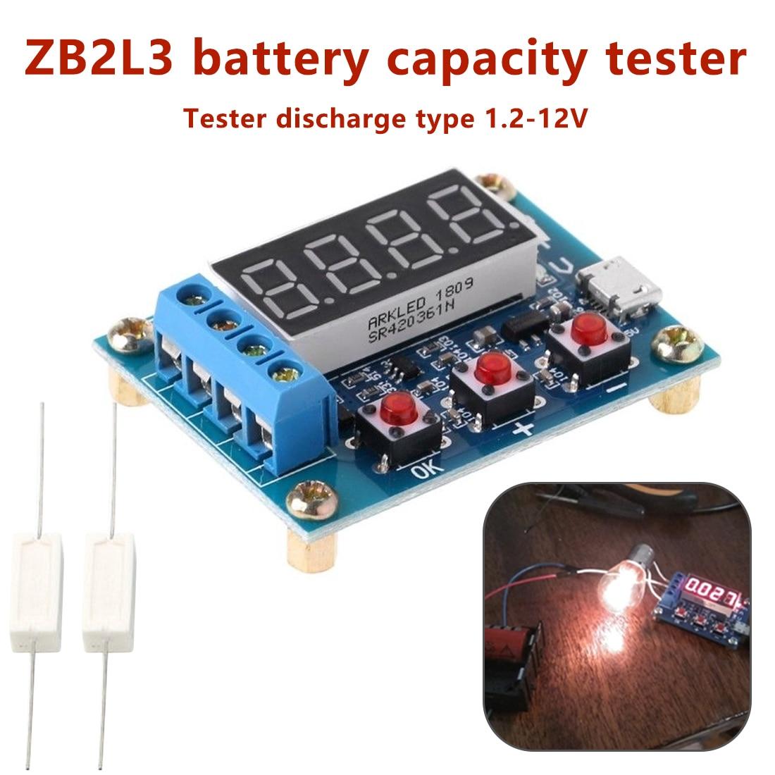 ZB2L3 электронный литий-ионный свинцово-кислотный индикатор заряда батареи разрядка тестер анализатор 1,2 В-12 в испытательный стенд