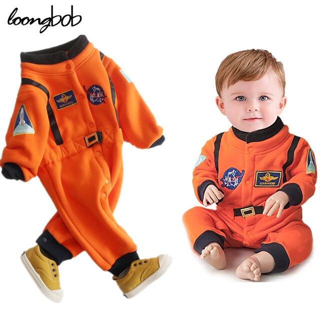 Neonati maschi Nasa Astronaut Costumi Infantile Costume di Halloween per I  Ragazzi Del Bambino Bambini Tuta fa96090f912b