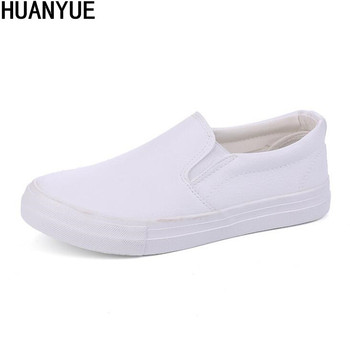 New Spring Men Canvas Rubber Soled Shoes Autumn Solid Color Slip On Light Breathable Casual Leather Fashion Vulcanized Shoes
