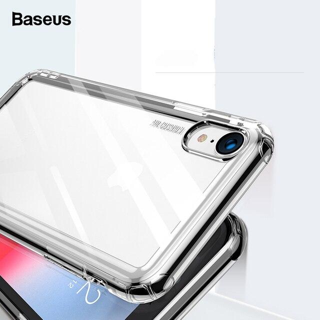 Роскошный чехол Baseus для телефона iPhone Xs Max Xr X S R Xsmax Coque, прозрачная Мягкая силиконовая задняя крышка из ТПУ для iPhone X Fundas Shell
