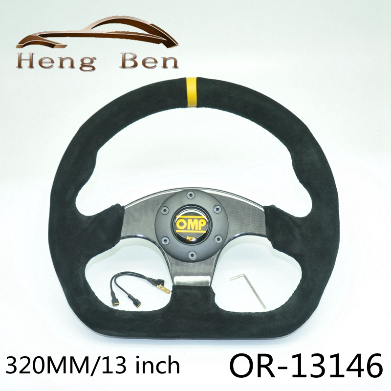 320MM OMP Suede Leather Car Steering Wheel Universal  Motorsport Steering Wheel Carbon Fiber Steering Wheel320MM OMP Suede Leather Car Steering Wheel Universal  Motorsport Steering Wheel Carbon Fiber Steering Wheel