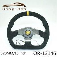 320MM OMP Suede Leather Car Steering Wheel Universal Motorsport Steering Wheel Carbon Fiber Steering Wheel