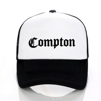 цена на new Compton Print baseball cap Fashion adjustable Mesh Men Caps Traker Hat Women Hats hop snapback hat bone gorras