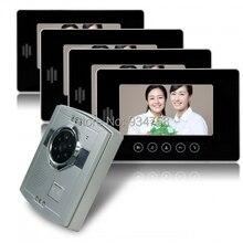 1V4 7 pulgadas TFT LCD Monitor 1/3 CMOS de visión nocturna cámara Video de la puerta sistema de teléfono