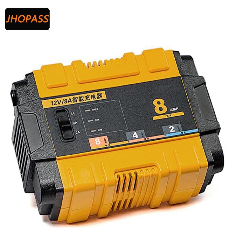 12 V 8A smart repair Moto/Voiture/SUV écran lcd au plomb chargeur de batterie pour 7AH-80AH charge de la batterie