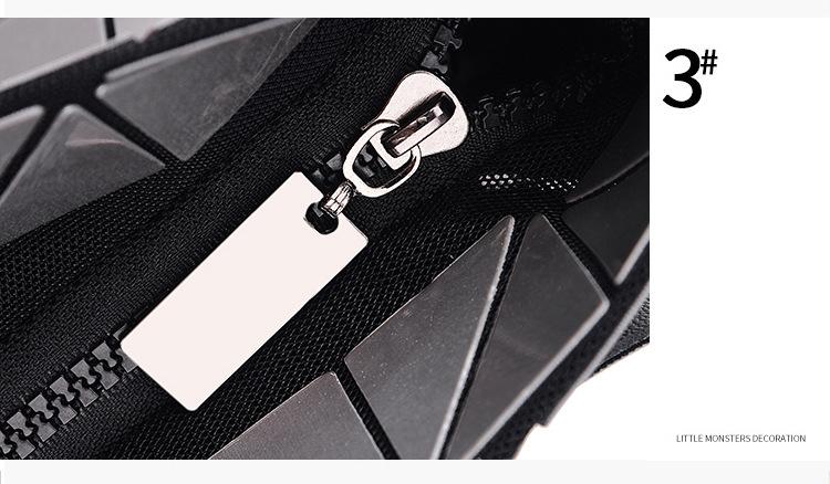 WSYUTUO Handbag Female Folded Ladies Geometric Plaid Bag Fashion Casual Tote Women Handbag Shoulder Bag 14