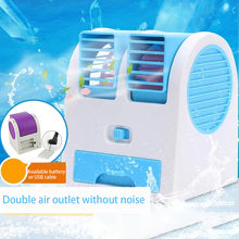 USB Mini Portable Air Conditioner Arctic Pendingin Udara Humidifier Purifier Lampu LED Ruang Pribadi Fan Udara Kipas Pendingin(China)