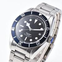 41mm Sapphire Glass Luminous Dial Blue Rotatable Bezel Stainless Steel Bracelet Japan Miyota 8215 Automatic Mens Sterile Watch