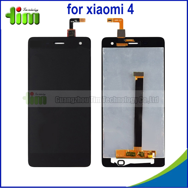 5 pcs New 5.0 Inch Repair Parts For xiaomi 4 m4 mi4 LCD Display + Touch Screen Digitizer Replacement Assembly Black