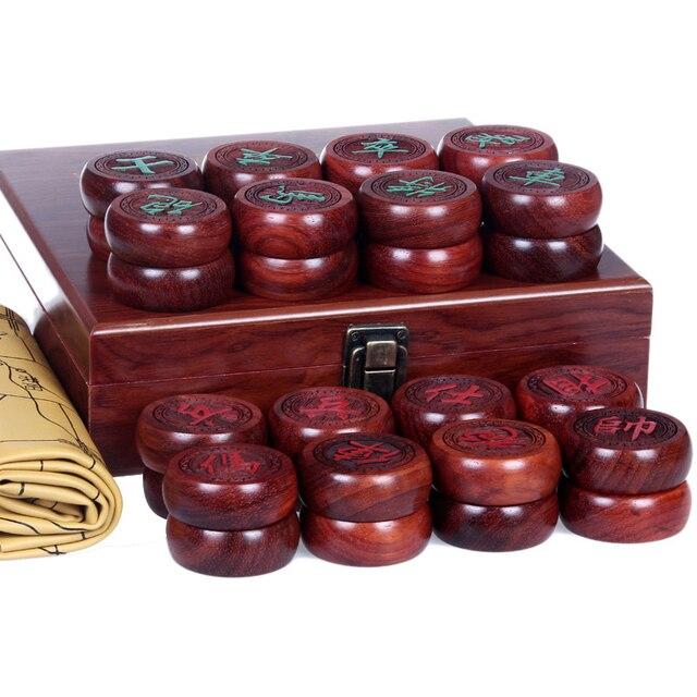 Échecs chinois (xianqi) en bois d'ébène de haute qualité 2