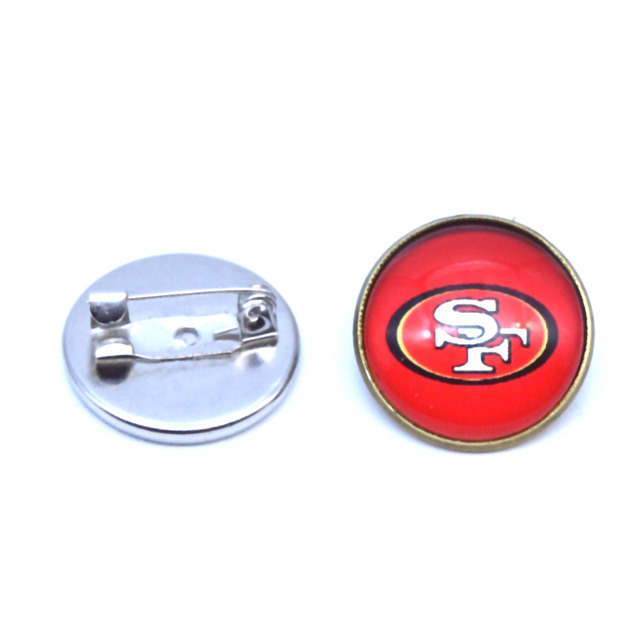 2f960680 2/pcs Round Cabochon San Francisco 49ers 20mm Football Brooch Pin Women  Garment Fashion Jewelry Accessory Gift-in Brooches from Jewelry &  Accessories ...
