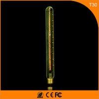 50 шт. Винтаж Дизайн Эдисон накаливания E27 B22 Светодиодные лампы, t30 40 Вт энергосберегающих украшение лампы заменить лампы накаливания AC220V
