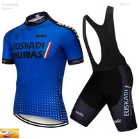 2019 Pro EUSKADI Cycling UCI TEAM Jersey 16D Gel Bike Shorts Set Ropa Ciclismo Mens Summer Quick dry Bicycling Maillot Culotte