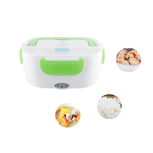 Color Green Electric Heating Lunch Box thermos for kids Portable Bento Meal Heater Food