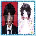 Free Shipping 30cm Sebastian Michaelis Kuroshitsuji Anime Hairstyle Synthetic Straight Men Black Short Cosplay Wig