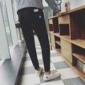 Мужская Чистого хлопка случайные штаны 2016 весна и осень мужская s fashion вскользь Уменьшают брюки для увеличения небольшой ярдов М-5XL горячая продажа