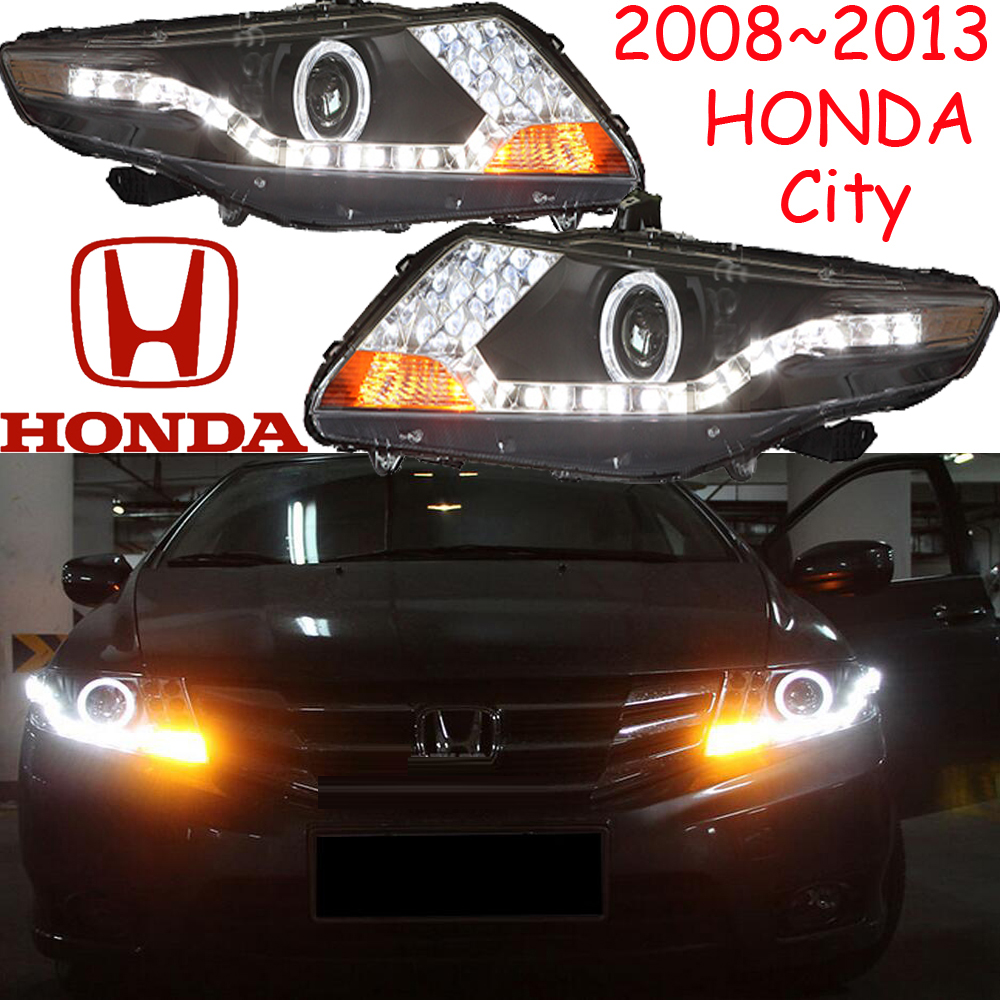 City headlight,2008~2012(Fit for LHD,RHD),Free ship! City daytime light,2ps/se+2pcs Aozoom Ballast,crosstour,Vezel,City mitsubish grandis headlight 2008 fit for lhd