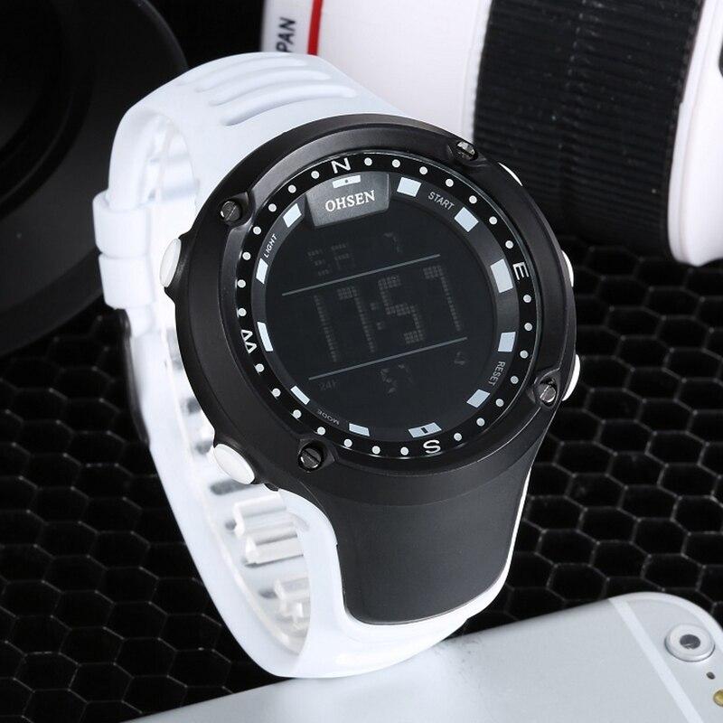 Reloj de pulsera Digital LCD para hombre, a la moda de marca OHSEN, resistente al agua 50M, Relojes de mano militares deportivos para hombre