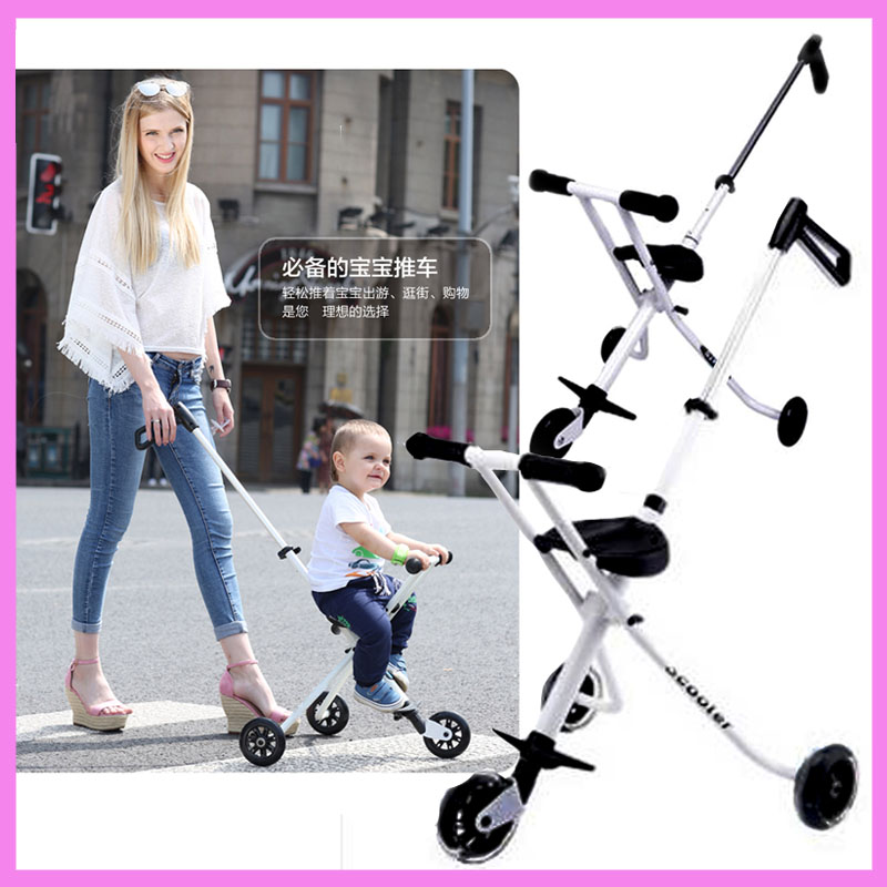 Portable Folding Lightweight Baby Carriage Toddle Kids Child Tricycle Stroller Baby Pram Travel Three Wheel Buggy Pushchair 1~6Y summer mosquito net travel folding portable four wheel cart carriage reversible car baby stroller lightweight pram pushchair