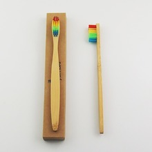 50 шт Трехцветная зубная щетка с бамбуковой щетиной деревянной зубной щетки новинка бамбуковая мягкая щетина Capitellum бамбуковое волокно деревянная ручка