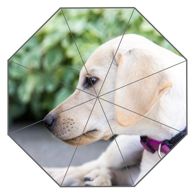 Новый пользовательский собака искусства зонтик солнечный и дождливый солнцезащитный крем анти-УФ-зонтик # QAZ098K