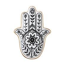 Europe Ceramic Jewelry Dish Trinket Dish Hand Small Jewelry Tray Decorative Plate Hamsa Hand Plates Decoration Crafts Decor