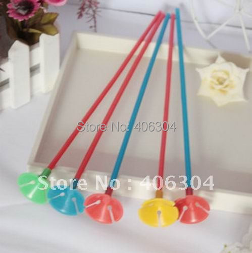 Free shipping,Wholesale,  colorful party plastic Balloon pole balloon holder and cup for kid