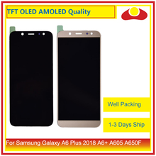 10 adet/grup Samsung Galaxy A6 Artı 2018 A605 A6 + lcd ekran Ile dokunmatik ekran digitizer Paneli Monitör Meclisi Komple