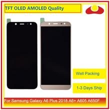 10 pçs/lote Para Samsung Galaxy A6 Plus 2018 A605 A6 + Display LCD Com Digitador Da Tela de Toque Do Painel de Montagem Do Monitor completo