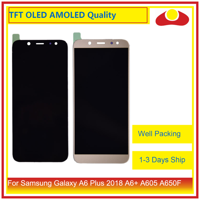 10Pcs/lot For Samsung Galaxy A6 Plus 2018 A605 A6+ LCD Display With Touch Screen Digitizer Panel Monitor Assembly Complete