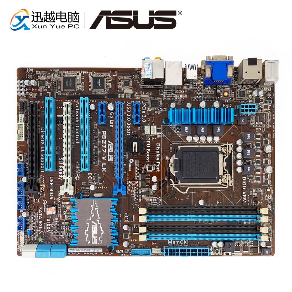 Asus P8Z77-V LK Desktop Motherboard Z77 Socket LGA 1155 i3 i5 i7 DDR3 32G SATA3 USB3.0 VGA DVI HDMI DP ATX asus p8p67 desktop motherboard p67 socket lga 1155 i3 i5 i7 ddr3 32g sata3 usb3 0 atx