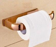 Portarrollos de papel higiénico para baño mba872, cuadrado, latón, oro rosa, lujoso