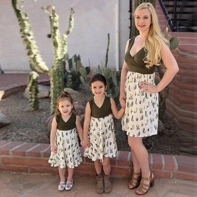 Robes maman fille - cactus