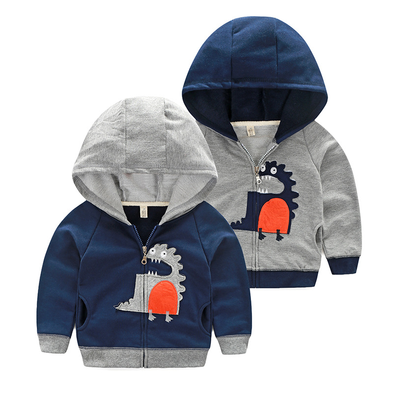 2016new autumn boys sweatshirt fleece thick cartoon hoodies hooded casual fashion sweater children clothes winter tops kids warm