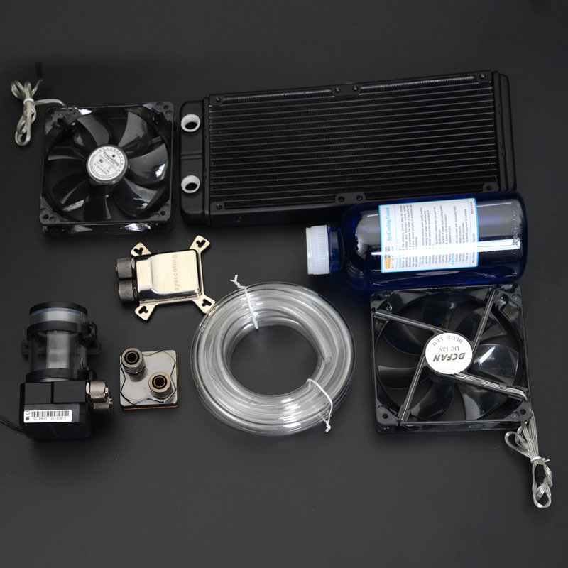 все цены на Syscooling computer CPU GPU water cooling system water tanks cooling fan онлайн