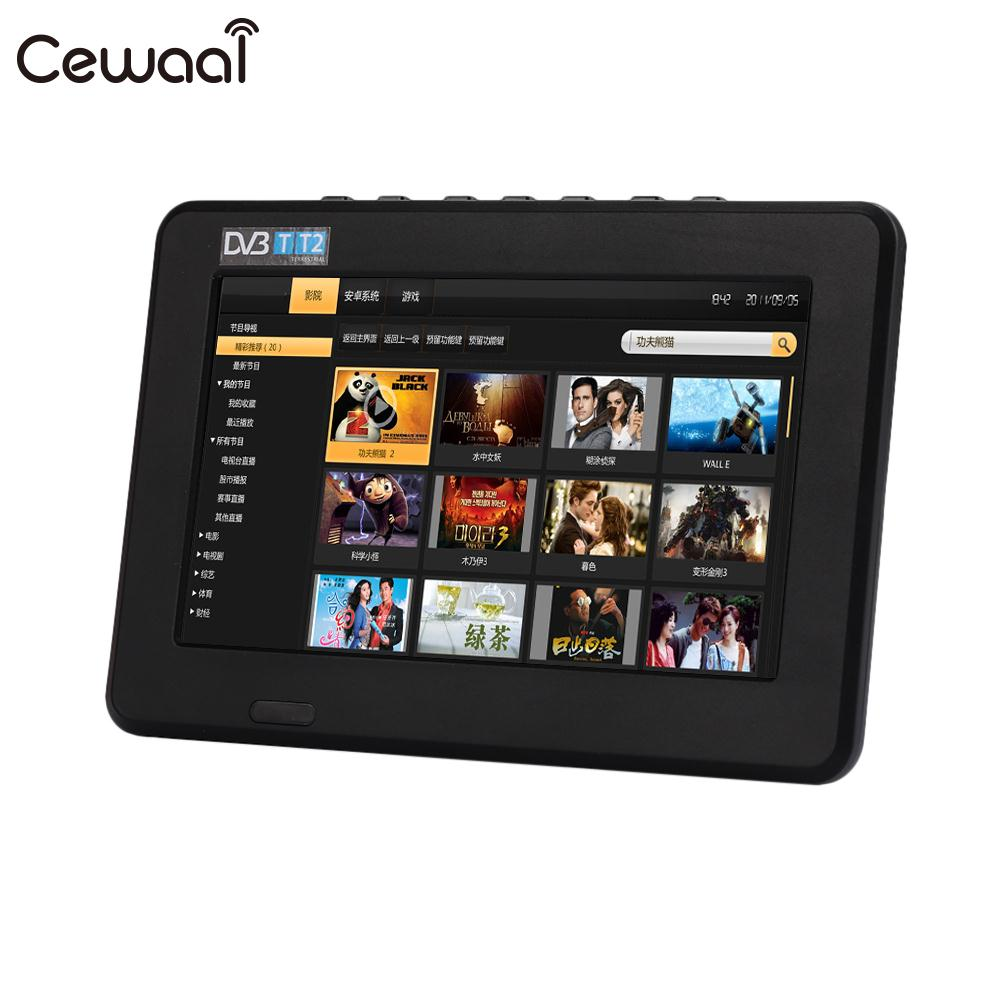 Cewaal Rechargeable Anolog TV 7inch ATSC DVB-T2 TFT-LED W/Re