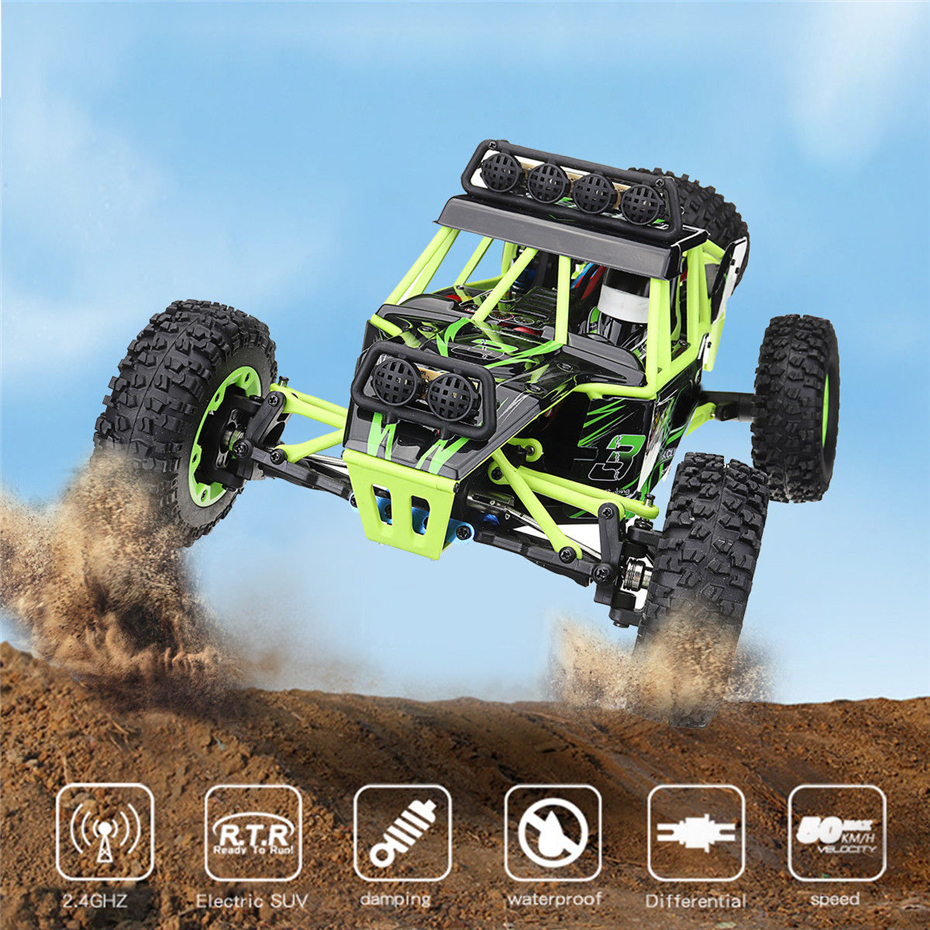 Wltoys 12428 RC Car 4WD 1/12 2.4G 50KM/H High Speed Drift Remote Control Car RC Climbing Car Off-road Buggy Voiture Telecommande wltoys 12428 12423 1 12 rc car spare parts 12428 0091 12428 0133 front rear diff gear differential gear complete