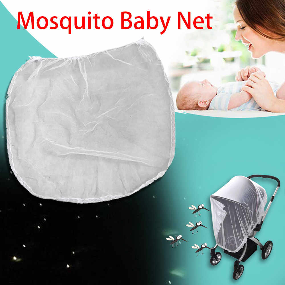 Infant Baby Stroller Pushchair Pram Mosquito Stroller Fly Insect Protector Car Buggy Cover Carriage Foldable Netting o1 30