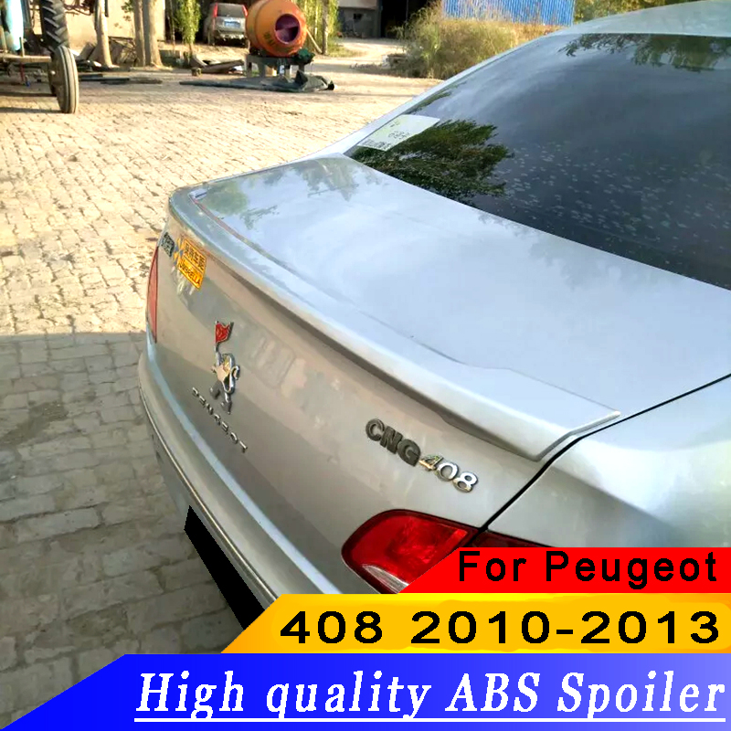 Honest Spoiler For Peugeot 408 2014.2015.2016.2017 High Quality Rear Wing Spoilers Trunk Lid Diffuser Spoilers & Wings Exterior Parts
