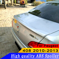 For Peugeot 408 2010 2011 2012 2013 High quality ABS material rear wing spoiler primer or DIY color 408 rear spoiler