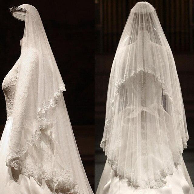 Bridal veil luxury vintage car lace short wedding dress design soft head yarn